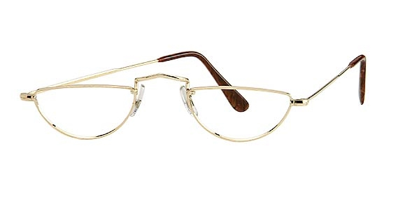 Image for Savile Row  14KT Executive Half-Eye w/ Skull Temples Half-Eye Eyeglasses