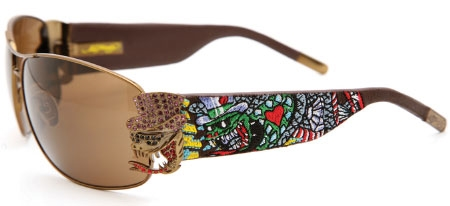 Image for Ed Hardy  EHS 034 Crunk Rock Wrap-Around Sunglasses