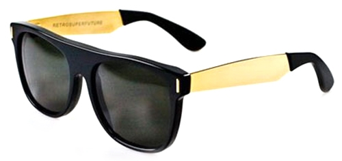 Image for Super  Flat Top Francis Black/Gold IHJU Unisex Sunglasses