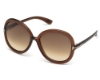 Tom Ford FT0276 CANDICE Sunglasses in 50F Dark Brown/Other / Gradient Brown