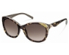 Just Cavalli JC408S Sunglasses in 56F Tortoise Kaki/Gradient Brown Lenses
