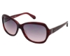 Kenneth Cole New York KC7033 Sunglasses in 83B Burgundy/Pearl Red Horn Smoke Lenses