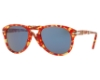 Persol PO 0714 Folding Sunglasses in 106056 Tortoise Red / Blue
