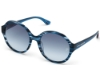 Victoria's Secret Pink PK0019 Sunglasses in 92W - Crystal Blue Horn, Blue Gradient Lens