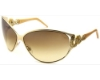 Roberto Cavalli RC851S Sunglasses in D26 Gold /champagne temples / Brown gradient lenses