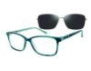 Revolution w/Magnetic Clip Ons Ellsworth w/Magnetic Clip-on Eyeglasses in Teal