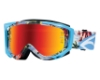 Smith Optics Fuel V.2 Sweat-X M Goggles in Blue Burnout / Red Mirror