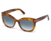Tom Ford FT0524 Alistair Sunglasses in 53W - Blonde Havana / Gradient Blue