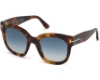 Tom Ford FT0613 Beatrix-02 Sunglasses in 53W - Blonde Havana / Gradient Blue