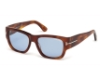 Tom Ford FT0493 Stephen Sunglasses in 53V - Blonde Havana / Blue