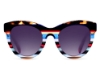 Ultra Limited Ustica Sunglasses in Brown Blue/Purple
