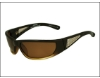 DSO Eyewear Grill Sunglasses in Brown to Amber Fade w/Brown Polarized Lenses