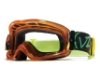 Von Zipper Sizzle Mx Goggles in ORG Drip Mop / Clear