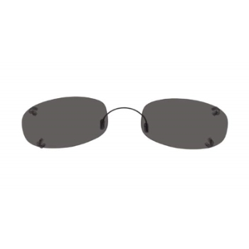 Hilco Rimless Oblong Sunglasses