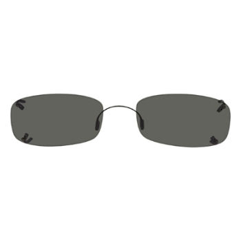 Hilco Rimless Low Rectangle Sunglasses