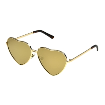 Anarchy Gold Heart Sunglasses