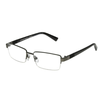 Anarchy Ti-Tech Dark Gunmetal Semi-Rimless Eyeglasses