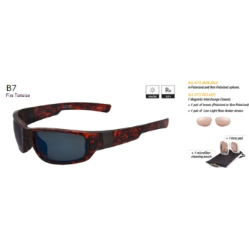 Switch B7 Fire Tortoise / True Color Grey Reflection Blue Polarized Glare Kit Sunglasses