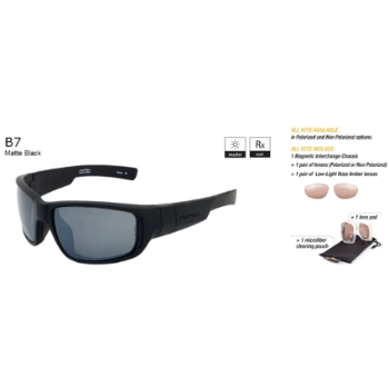 Switch B7 Matte Black / True Color Grey Non Reflection Non Polarized Sun Kit Sunglasses