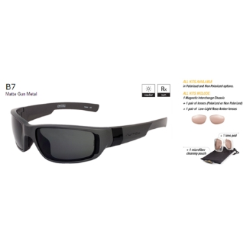 Switch B7 Matte Gunmetal / True Color Grey Non Reflection Non Polarized Sun Kit Sunglasses