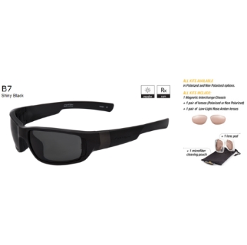 Switch B7 Shiny Black / True Color Grey Non Reflection Non Polarized Sun Kit Sunglasses