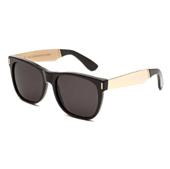 Super Classic IGQT 202 Francis Black Gold Large Sunglasses