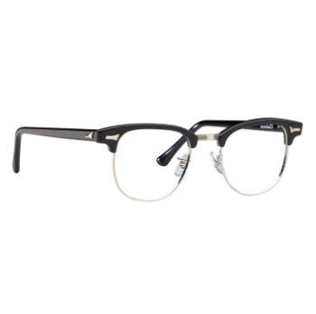 Legendary Looks Clubman Art-Rim Eyeglasses