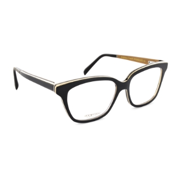 Gold & Wood Diva Eyeglasses