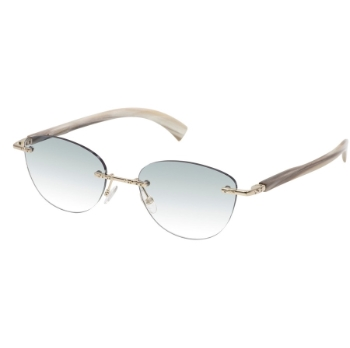 Gold & Wood Marquise 11.07.01.CB53 Sunglasses