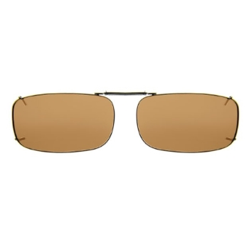 Haven Clip Rec 15 Bronze Frame Amber Lens Sunglasses