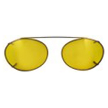 Hilco Traditional Oval Sunclip - Bronze II Sunglasses
