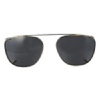 Hilco Traditional Square Sunclip - Pewter Sunglasses