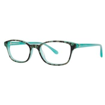 LILLY PULITZER Eyeglasses WAYLAND Tortoise Aqua 50MM