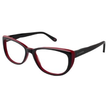 beacb0fff73 Lulu Guinness Semi-Cat-Eye Eyeglasses