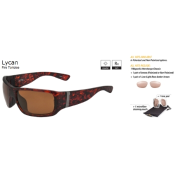 Switch Lycan Fire Tortoise / Contrast Amber Reflection Bronze Polarized Glare Kit Sunglasses