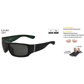 Switch Lycan Lagoon / True Color Grey Non Reflection Polarized Glare Kit Sunglasses