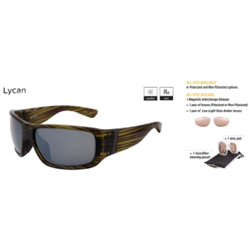 Switch Lycan Olive / True Color Gray Reflection Silver Polarized Glare Kit Sunglasses