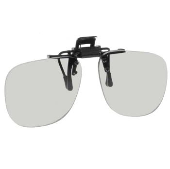 NoIR #17 Small Oval Flip-Up Clip-On Sunglasses