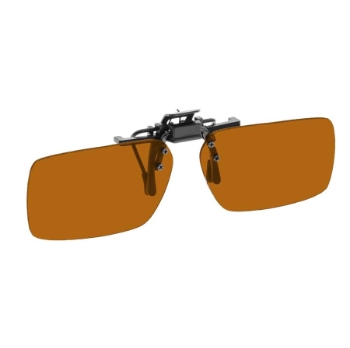 NoIR #22 Large Rectangular Flip-Up Clip-On Sunglasses