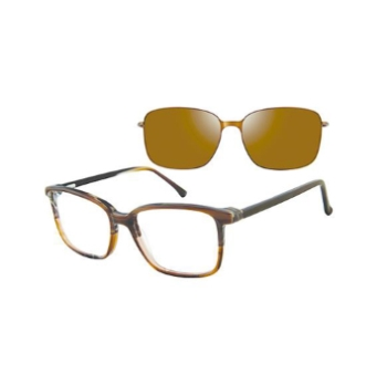 Revolution w/Magnetic Clip Ons Brockton w/Magnetic Clip-on Eyeglasses