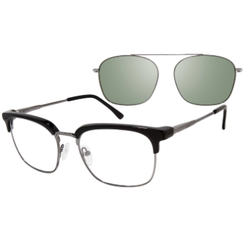 Revolution w/Magnetic Clip Ons Dublin w/Polarized Clip-On Eyeglasses