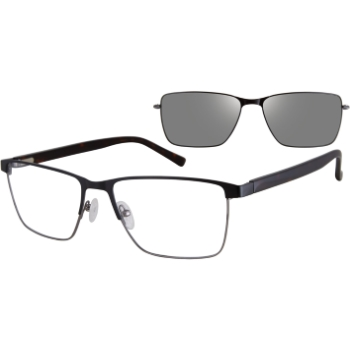 Revolution w/Magnetic Clip Ons Gary w/Polarized Clip-On Eyeglasses