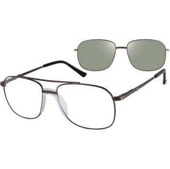 Revolution w/Magnetic Clip Ons Hugo w/Polarized Clip-On Eyeglasses