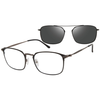 Revolution w/Magnetic Clip Ons Stockton w/Polarized Clip-On Eyeglasses