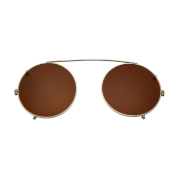 Savile Row Round Clip-On (Polarized) Eyeglasses