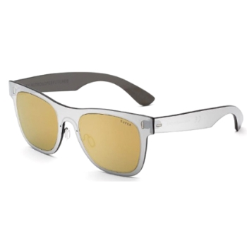 Super Duo Lens Classic ICHT UF8 Gold Silver Large Sunglasses