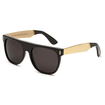Super Flat Top IAB1 6YJ Francis Black Gold Sunglasses
