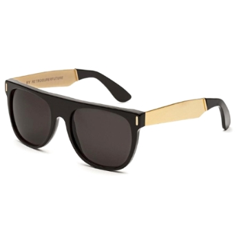 Super Flat Top IAB1 G7U Francis Black Gold Sunglasses