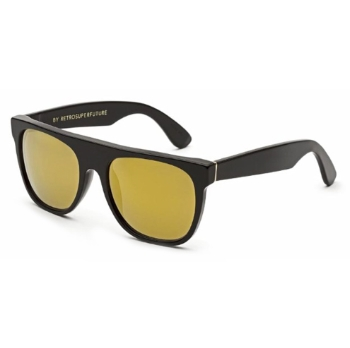 Super Flat Top IUA7 6V6 Black 24k Large Sunglasses