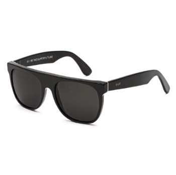 Super Flat Top IYN4 3WG Black Sunglasses